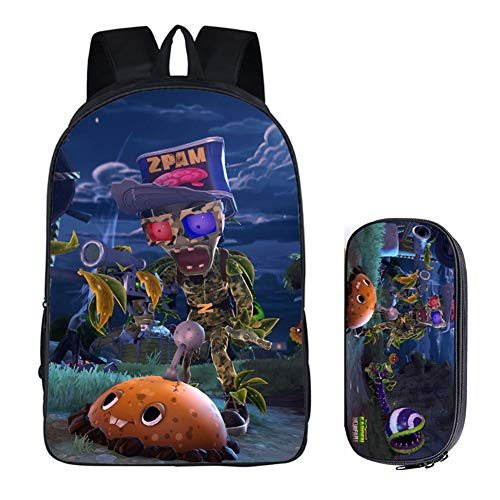 Gumstyle Plants vs. Zombies Anime Children Bookbags Backpack School Bag and Pencil Case 2