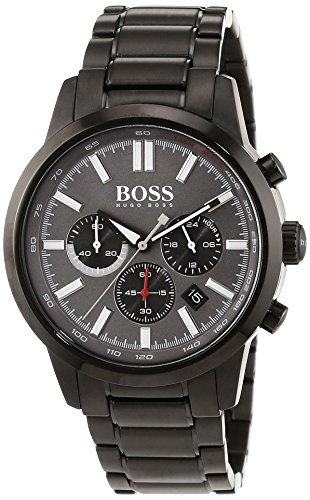 Hugo Boss Herren-Armbanduhr Chronograph Quarz Edelstahl beschichtet 1513190