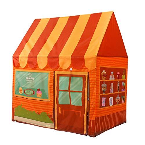 MXYPF Tienda para Niños Carpa Juegos Postre/Panadería, Portátil Plegable Casa De Juguetes para Niños Al Aire Libre Casa De Juegos Interior, Regalo para Niñas Niños