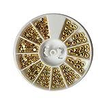 La decoración del Clavo de Oro electrochapado semicírculo Perla Diamante de la Caja Brillante Diamante 6cm pequeña Caja de Discos del Partido Uñas Aonsejos