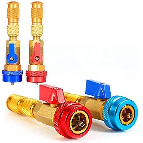 2 piezas de aire acondicionado automotriz r134a núcleo de válvula, herramienta de alta presión del instalador del removedor rápido..