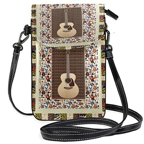 XCNGG Monedero pequeño para teléfono celular Guitar Cell Phone Purse Wallet for Women Girl Small Crossbody Purse Bags