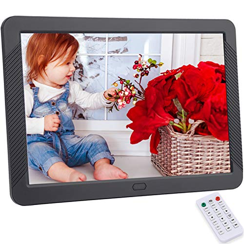 CofunKool Digital Photo Frame 8 inches, HD Digital Picture Frame with 1920x1080 IPS Screen, Support 1080P Video, Music Player, Auto On/Off Timer, Calendar, Alarm, with Remote Control