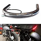 "TARAZON 7/8"" Tube Cafe Racer Rear Seat Frame Hoop Brat Style Seat LED Brake Turn Singal Light Universal for Honda for Yamaha for Suzuki for Kawasaki for Ducati for BMW for Triumph 9' Width"