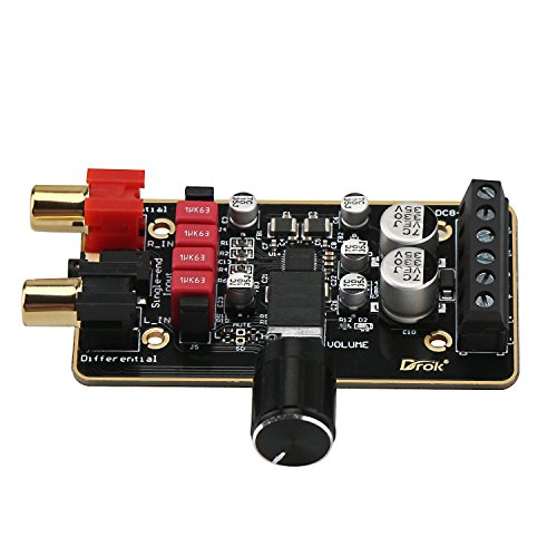 Droking Tablero del Amplificador de 12 V, PAM8620 Módulo de Amplificador estéreo Digital 15W + 15W 2.0 Canal Dual Clase D 8-26V 12v Circuito del Amplificador de Potencia de inmersión en Oro Mini