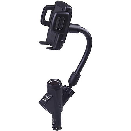 メディアカバーマーケット 【スマホ用 シガーソケット 充電 ホルダー 】 USB 2ポート iPhone Android各種対応