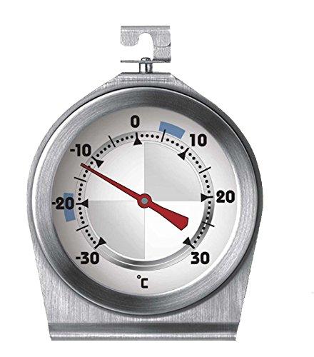 Sunartis T663L - Termometro per frigorifero e freezer in acciaio INOX