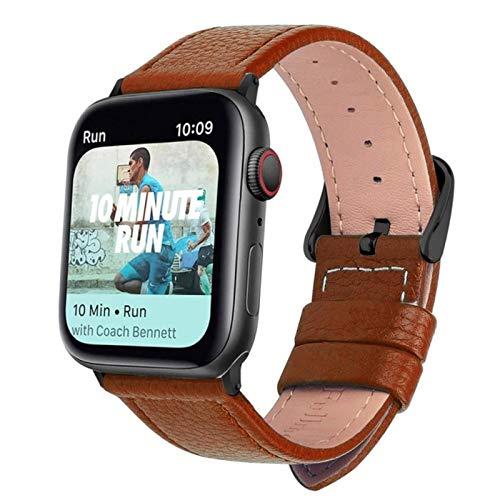 Correa de reloj de cuero de3 colorespara Apple Watch Band Series 5/3 Pulsera deportiva 42mm 38mm Correa para iwatch 6 4 SE Band
