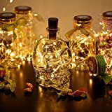 AGM Wine Bottle Lights with Cork, 10 Copper Wire String Light Shape Silver Wire Colorful Fairy Mini String Lights for DIY, Party, Decor, Christmas, Halloween,Wedding (Battery Included)