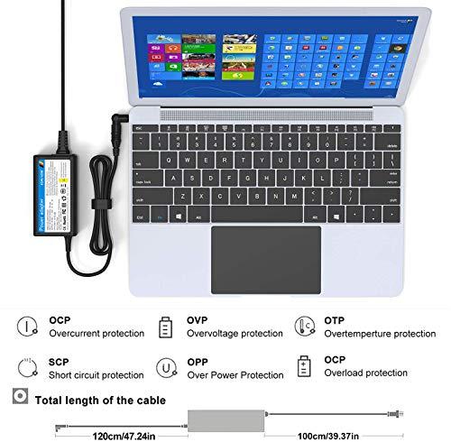 NEUE DAWN Laptop Universal Netzteil Ladekabel für Lenovo ideapad Yoga Asus Vivobook Zenbook Dell Inspiron XPS Acer Swift Toshiba HP Stream Chromebook mit 15 Adapterstecker Notebook Universalnezteil
