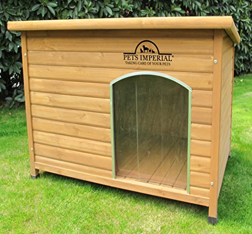 Pets Imperial Norfolk Chenil Isolé En Bois Grande Taille Chien Avec Plancher Amovible Pour Un Nettoyage Facile B