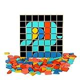 Yifuty Tangram, Pizarra Juguetes, Bloques de creación Digital, versátil Rompecabezas, Juegos educativos for niños 1-2-3-5 Años de Edad, Educación temprana for niños y niñas, Desarrollo Educativo