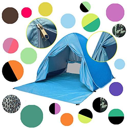 N\A ZGGYA Tienda de la Playa Parasol Protector Solar Libre de la Estructura rápida transfronteriza Plegable Abierto Amazon explosión Modelos Carpas al Aire Libre con Cortinas (Color : Azul)