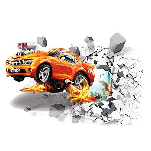 Ruiting Adesivo da Parete Adesivo 3D per Auto, Camera da Letto, Soggiorno, Carta da Parati Rimovibile per Bambini