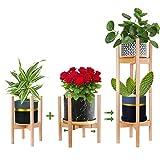 Multi-Tier Soporte para Plantas Ajustable,Moderno Soporte para macetas, para...