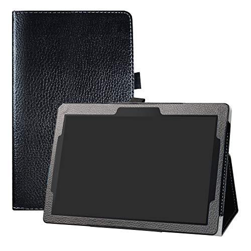 LFDZ Lenovo Tab E10 Hoesje,Oppervlak met behulp van hoge kwaliteit synthetisch leer Hoes Voor 10.1