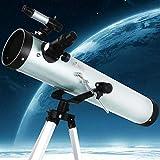 Telescopio De Astronomía para Adultos, Calibre De 125 Mm, Longitud Focal De 700 Mm, Telescopios para Principiantes Y Niños En Astronomía, Telescopio De Reflexión con Trípode Ajustable (Color: Paquet
