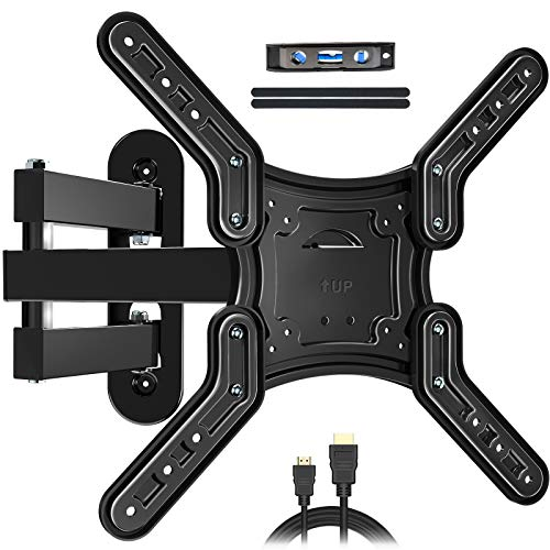 KDG Full Motion TV Wall Mount with Articulating Arms Swivels Tilts Extension Rotation TV Mount for Most 28-55 inch Flat Curved Screen TVs,Max VESA 400x400mm Loading up to 66lbs