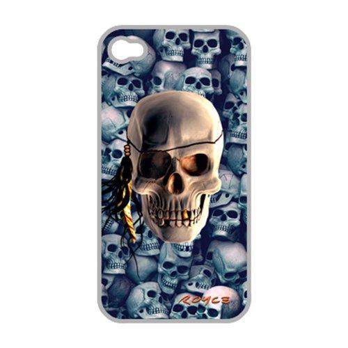 HandyNow 3D Schutzhülle für iPhone 4/4S Totenköpfe mit Displayschutzfolie