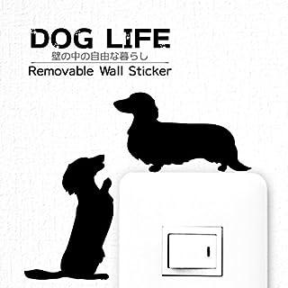 ウォールステッカー DOG LIFE 「ミニチュアダックスフンド(2匹)」