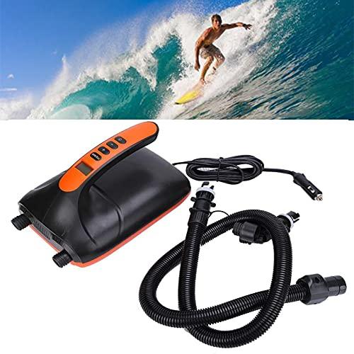 Inflador Eléctrico para Sup 20 Psi 12V Inflado Rápido Apagado Automático Pantalla LCD Alta Presión Inflador de Colchón Hinchable Paddle Surf