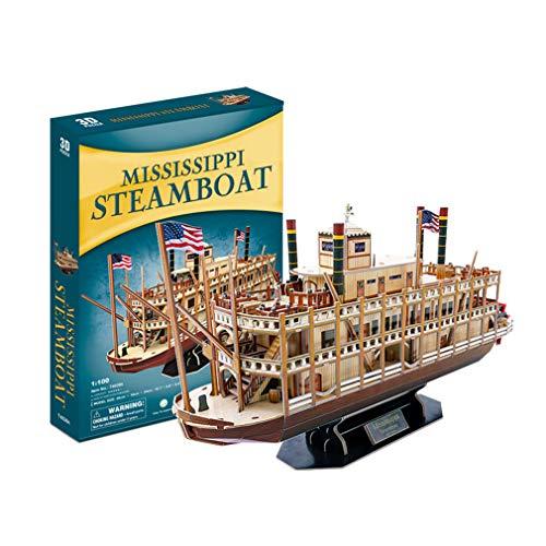 Kw-tool Maqueta de Barco, Herramientas de construcción Maqueta de Barco Maqueta de Barco Maqueta ensamblada Maqueta de navegación clásica Mississippi Steamship 142 Piezas