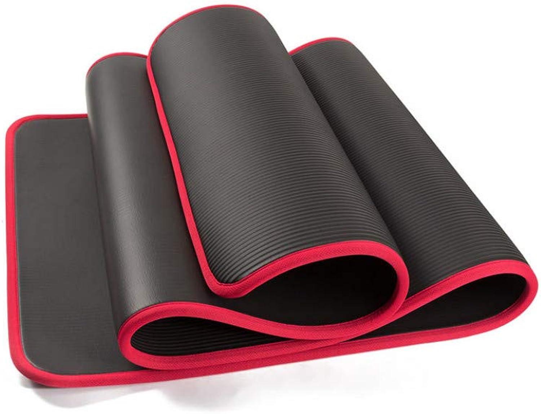 EYCFSJ 10Mm Extra Dick 183Cmx61Cm Hohe Qualitt Nrb rutschfeste Yoga Matten Für Fitness Geschmacklos Pilates Gym übungsauflagen Mit Verbnden,