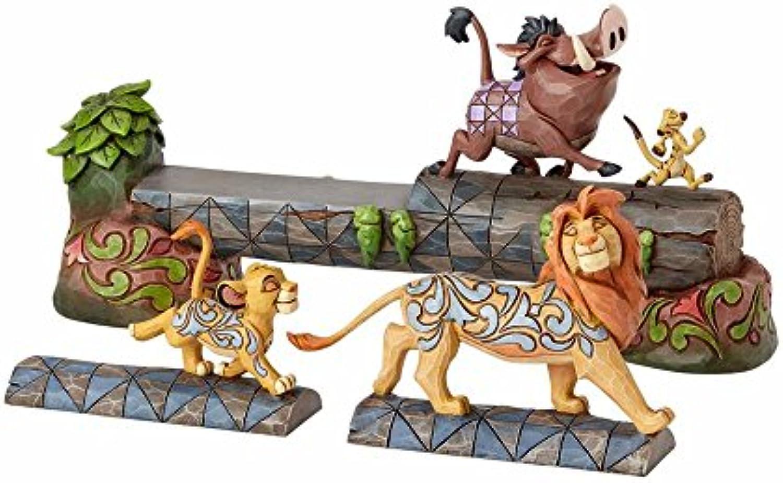 Disney Tradition 4057955 Figur Carefree Camaraderie, Simba, Timon & Pumbaa, 38,1 x 10,2 x 19 cm
