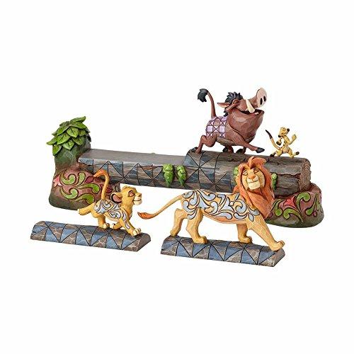 Enesco Jim Shore Disney Traditions The Lion King Simba, Timon, and Pumba Stone Resin Figurine, 7.5', Multicolor