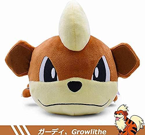 INGFBDS Poket Growlithe Cartoon Plush Toy Kawaii Sleep Position Growlithe Anime Stuffed Peluche Doll para niños 2019 Mejor Gitf 32 cm