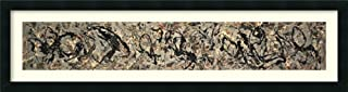 Framed Wall Art Print Number 10, 1949 by Jackson Pollock 42.25 x 11.50
