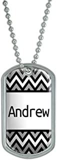 Graphics and More Dog Tag Pendant Necklace Chain Names Male Al-Ap