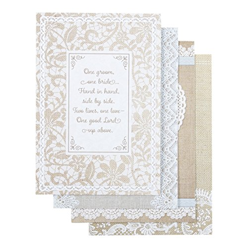 Wedding Shower - Inspirational Boxed Cards - Burlap and Lace