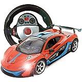 Telecomando auto, decorazione regalo remoto sport auto da corsa 1:18 Scala RC per bambini Elettrico pronto controllo auto gravity sensore supercar radio modello modello concetto su giocattolo arancion