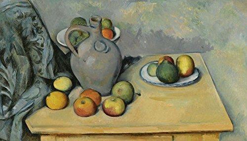 Das Museum Outlet–Stillleben mit Krug und Früchte auf dem Tisch, 1893–94, gespannte Leinwand Galerie verpackt. 50,8x 71,1cm