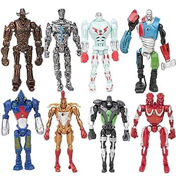 8pcs/set Real Steel Action Figure Toys Atom Movie Zeus Twin Cities Midas Robot PVC 13cm Anime NonJAKKS Robot