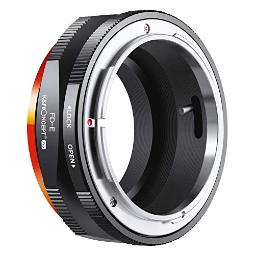 K&F Concept FD to E Mount Lens Mount Adapter for Canon FD FL Mount Lens to E NEX Mount Mirrorless Cameras with Matting Varnish Design for Sony A6000 A6400 A7II A5100 A7 A7RIII