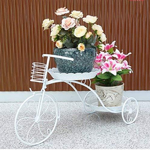 YINUO Style européen accueil fleur salon en fer forgé étagère à fleurs vert multicouche balcon intérieur suspendu cadre de cadre orchidée (Color : White)