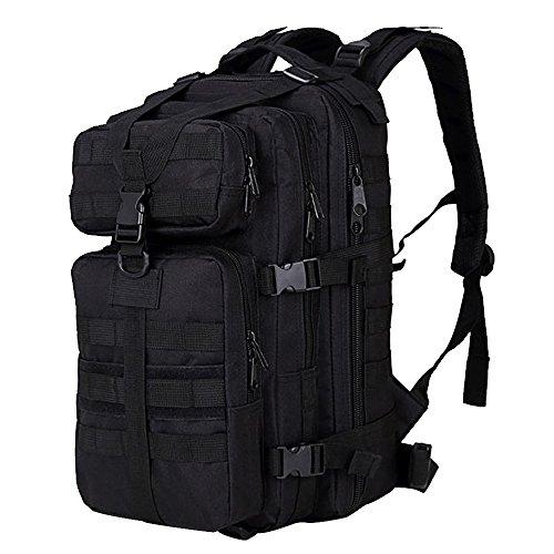 Sac à Dos Portable, Beetest® 35L grande capacité extérieur extensible militaire tactique sac à dos imperméable voyage randonnée Camping trekking escalade chasse sac d'ordinateur portable noir