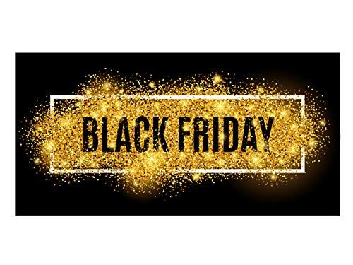 Oedim Vinilo Black Friday Escaparates Rebajas Black Friday   100 cm x 50 cm   Vinilo Adhesivo   Decora tu escaparate   Pegatinas Adhesivas Escaparate   Vinilos Negocios