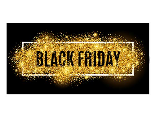 Oedim Vinilo Black Friday Escaparates Rebajas Black Friday | 100 cm x 50 cm | Vinilo Adhesivo | Decora tu escaparate | Pegatinas Adhesivas Escaparate | Vinilos Negocios