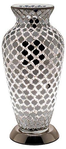 Febland LM79CM Mosaik-Vasen-Lampe, Glas Modern Verspiegelt