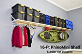 DIY RhinoMini Universal Shelf Kits for Garages & Other Applications (16' Length; 20' Width)