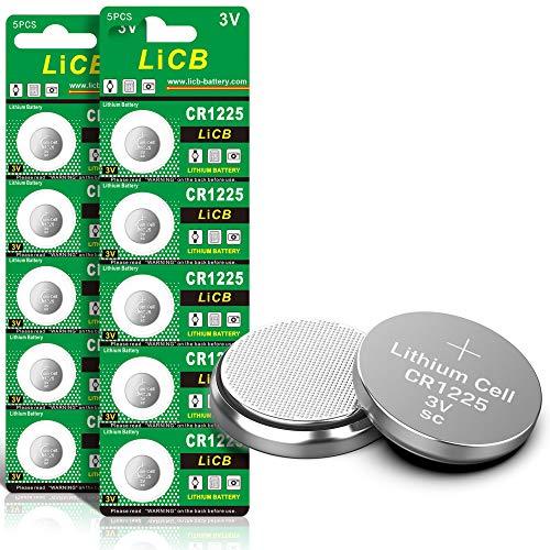 LiCB 10 Pack CR1225 3V Lithium Battery CR 1225