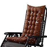 Kinnart - Almohadillas de repuesto para tumbona de jardín, patio, cobertor de asiento acolchado grueso para tumbona, tumbona, silla mecedora para piscina al aire libre, poliéster, café, 110*40cm
