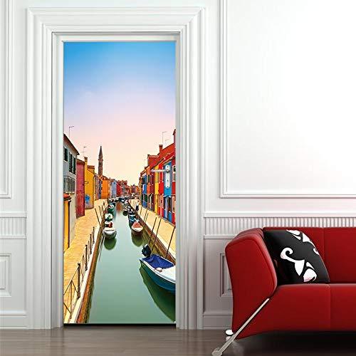 Clásico Inglaterra Londres Estilo York Calles Edificios Big Ben Vinilos decorativos The Door Stick 3D Vinilos decorativos