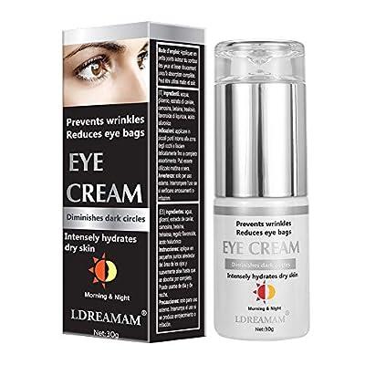 Eye Cream,Eye Gel,Anti Wrinkle Eye Cream,Anti-Aging Eye Cream,Minimizes Fine Lines Reduces Puffiness & Dark Circles,Anti Aging Skin Nourishes Skin & Fights Wrinkles Night and Day Moisturizing Cream