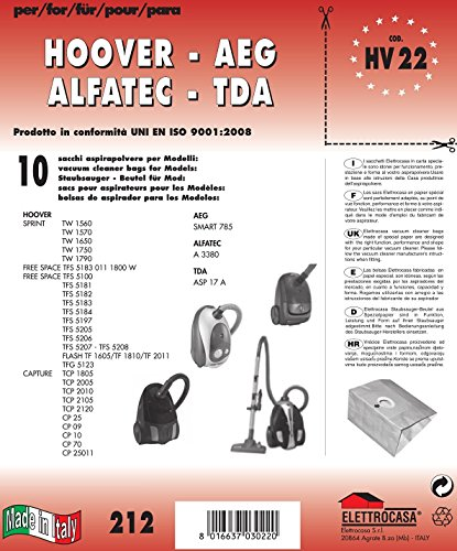 sacchi per aspirapolvere Elettrocasa HV 22 Sacchetto per la polvere