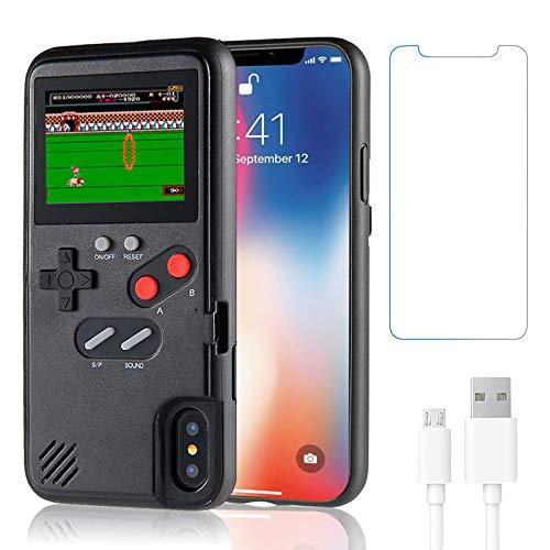 Gameboy Schutzhülle für iPhone X/XS, Handheld Retro 36 klassische Spiele, Farbvideoanzeige Spielhülle für iPhone, kratzfeste, stoßfeste Handy-Schutzhülle für iPhone WeLohas