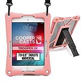 Cooper Trooper 2K Funda Tablet de 7,9 a 8,9' (20,06-22,60 cm)| Soporte, Correa para Hombro, rígida, Protección a Prueba de Golpes y caídas (Rosa)